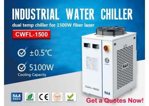 Laser water cooled system for 1500W Fiber Laser